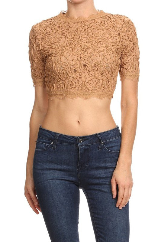 Embroidered Lace Crop Top (more colors)