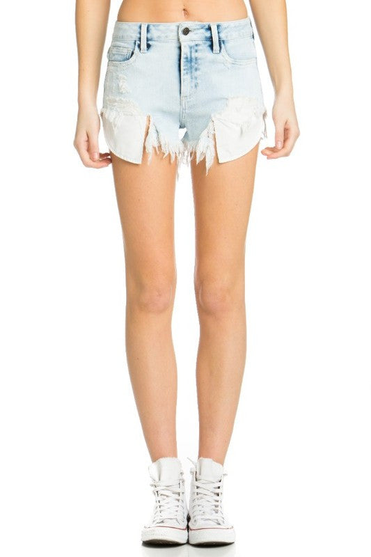 Exposed Pockets Denim Shorts (preorder)