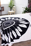 Dreamcatcher Print Throw - Black