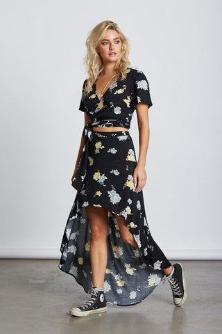 Floral Dance High Low Skirt