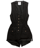 One Teaspoon Hunter Mini Romper - Black