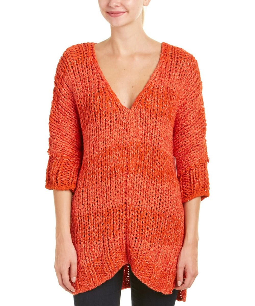 Georgia Tunic Sweater - Red