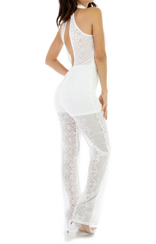 Halter Laced Jumpsuit