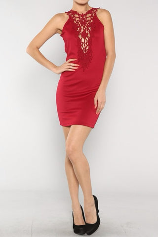 Lady in Red Mini Dress- FINAL SALE
