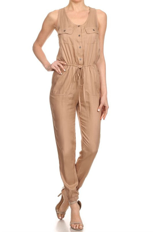 Buttoned Jumpsuit (more colors)-FINAL SALE