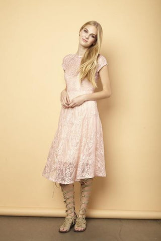 La Vie en Rose Lace Dress - Pink