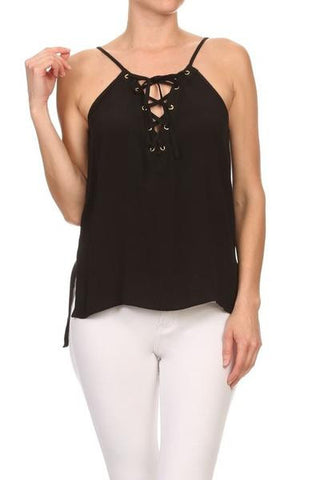 Lace Up Tank Top (more colors)