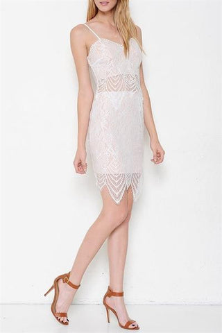 Lace Affair Two-Piece Set - White- FINAL SALE