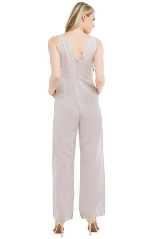 Linen Jumpsuit- Grey