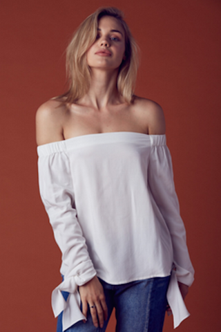 Maggie Off Shoulder Top - White