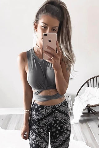 Multiwear Crop Top - Grey