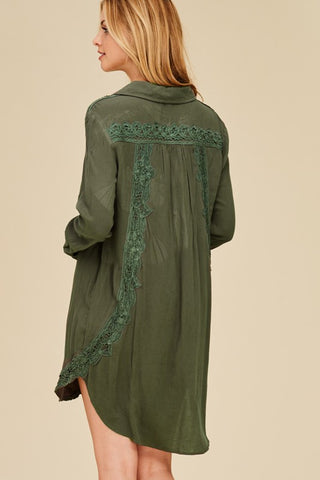 Rose Patch Olive Tunic