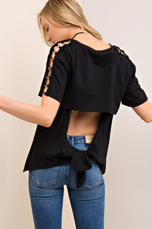 Open Back Tie Top