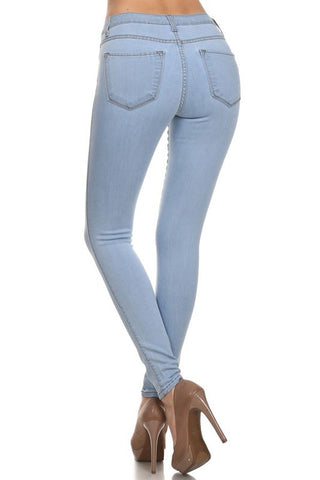 Mid Rise Skinny Jeans  - Dark Wash- FINAL SALE