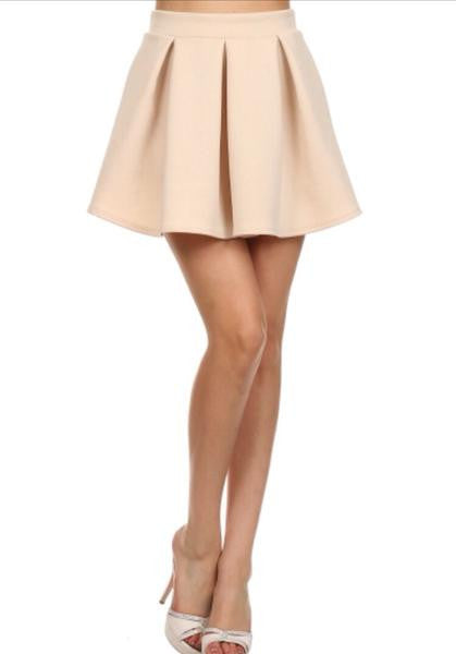 Pleated Basic Skater Skirt  - FINAL SALE