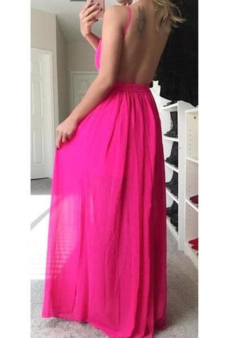 Rise Up Slit Maxi Dress - Pink