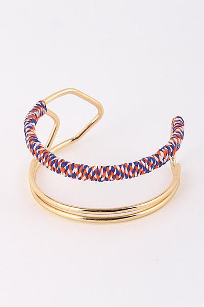 Rope Cuff - Blue/Orange