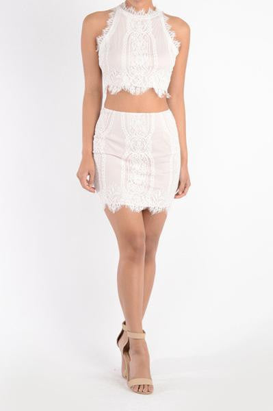 Valentina Two-Piece Set - White- FINAL SALE