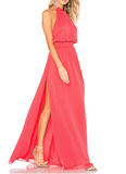 Jet Set Diaries Shelli Slit Maxi Dress - Papaya