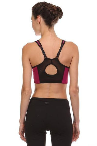 Sports Bra - Magenta/Black - FINAL SALE