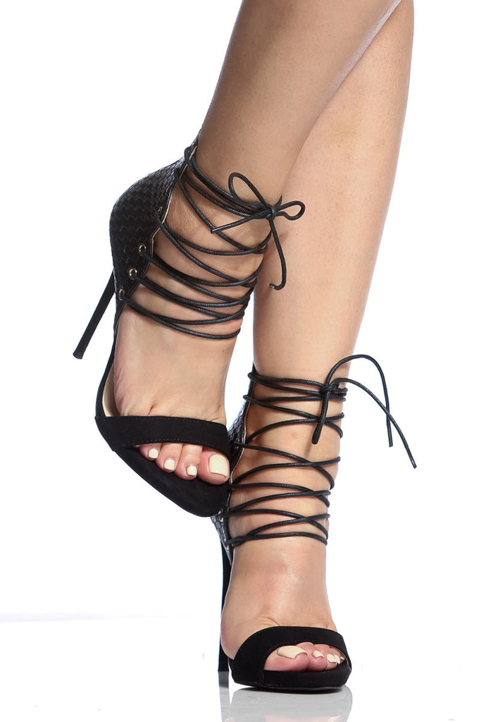 Strappy Yeah Sandals - Black