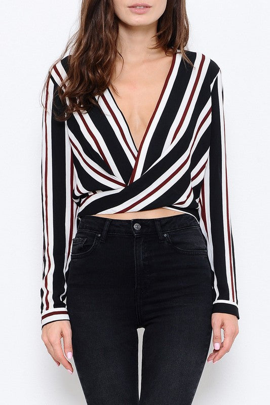 Long Sleeves Striped Top
