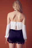 Cindy Off Shoulder Chiffon Top - Ivory