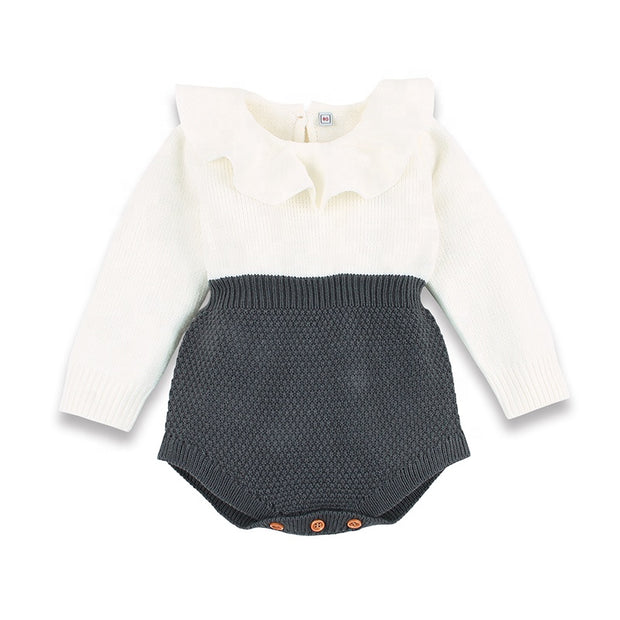 Long sleeve knitted Romper - Little Guardian