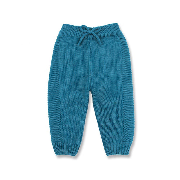 Knitted pants in Blue - Little Guardian