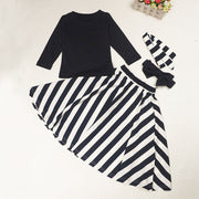 Long sleeve wind girl skirt suit - Little Guardian