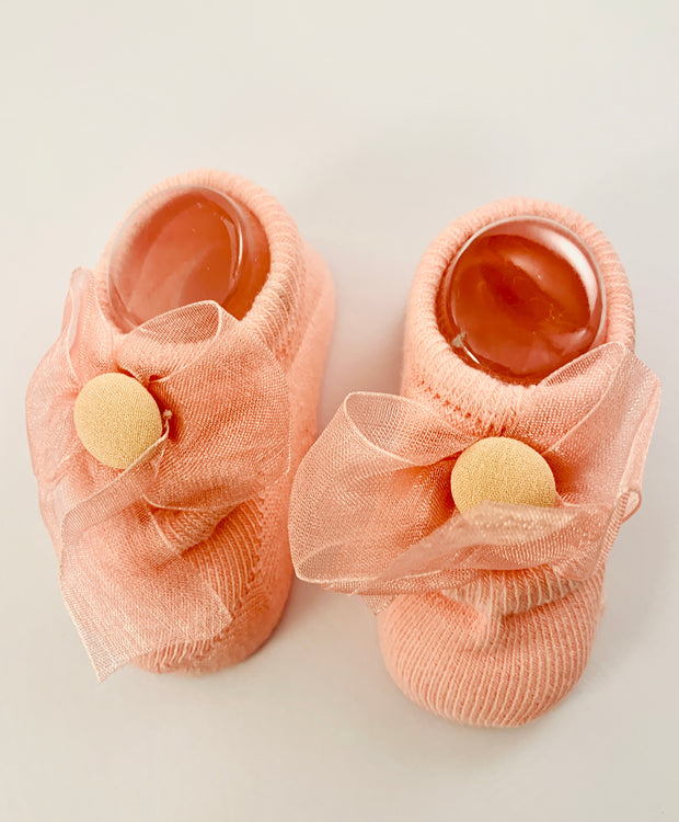 Anti-slip new born lace booties - Little Guardian