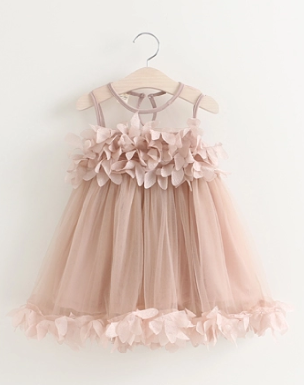 Pink applique summer dress - Little Guardian