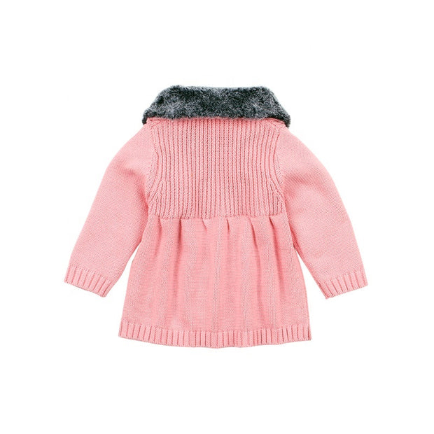 Wool collar fashion coat - Little Guardian