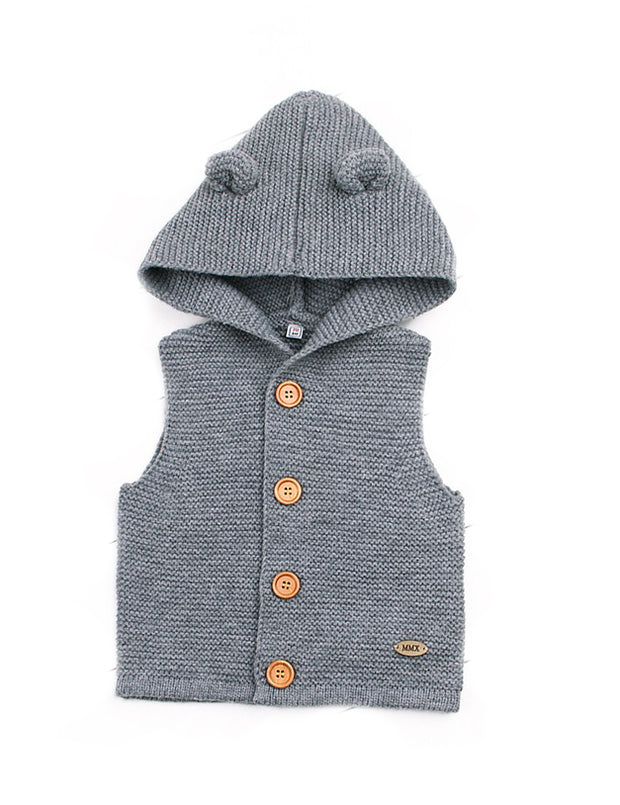 Sleeveless hooded waistcoat - Little Guardian