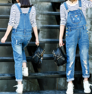 Washed denim jump suits - Little Guardian