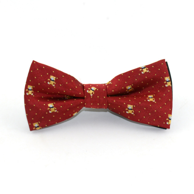 Red - animal printed Bow tie - Little Guardian