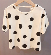 Short sleeve black dotted tee - Little Guardian