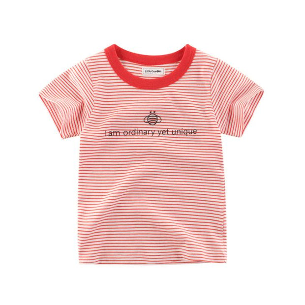 Embroidered red tee shirt - Little Guardian