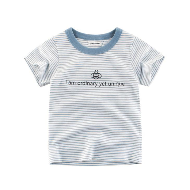 Embroidered blue tee shirt - Little Guardian