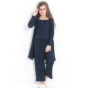 Three pieces navy dress sets - Little Guardian