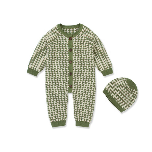 Winter Romper Bodysuits with matching hat - Little Guardian