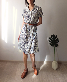 fraicheur dress(Vintage ,belt is not included)-sold out
