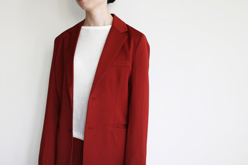 VERMILLION BLAZER/TROUSERS