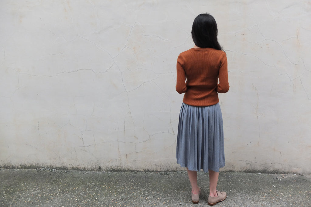 jacquard skirt {Japanese vintage,sz XS}-sold out