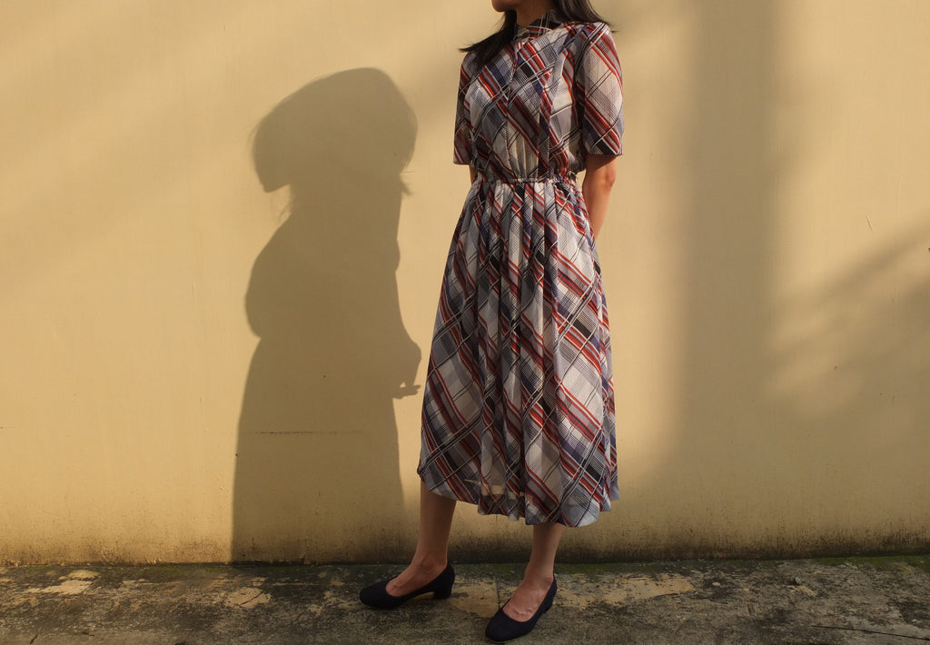 Carreaux dress {Japanese vintage}-sold out