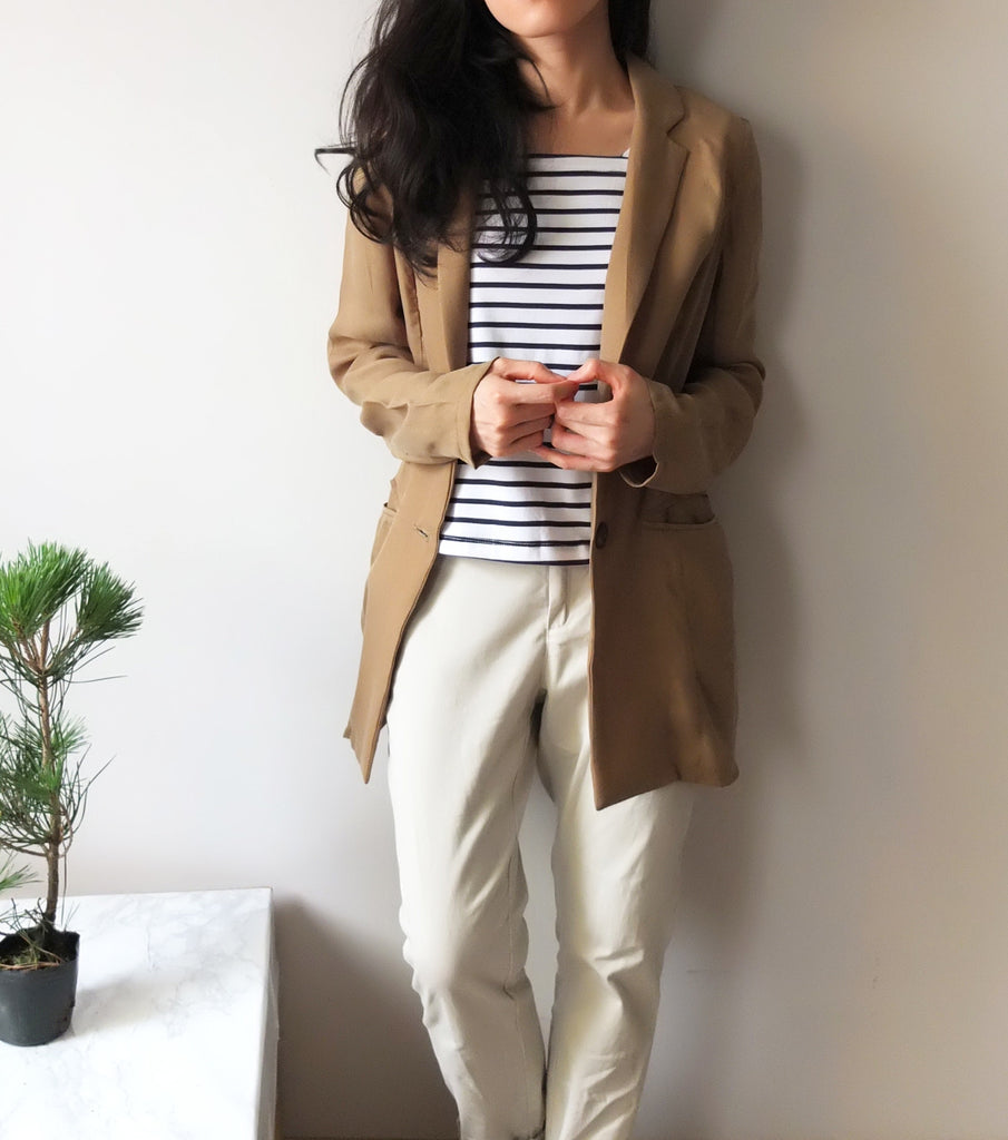 olive blazer-SOLD OUT