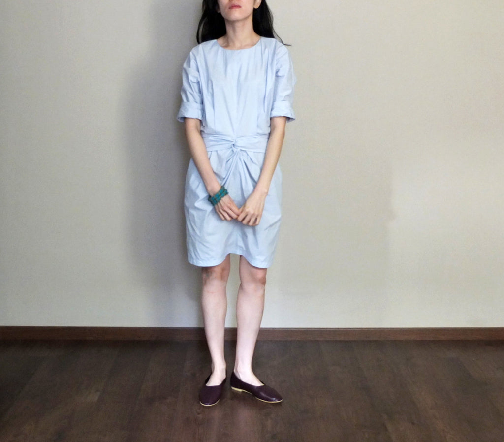 Origami dress{baby blue}-sold out