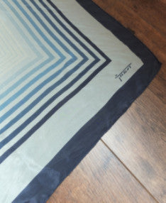 Vintage geometric print silk scarf (Made in Italy)Sold out