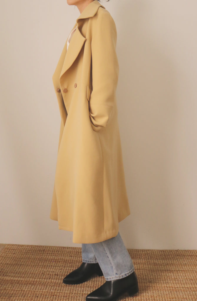 butterscotch trench coat (limited edition,fabric is imported from Japan)