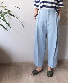 Piqué culotte pants-sold out